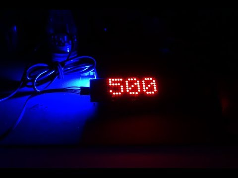 The Making of the Bodge-Ometer - YouTube Counter using an ESP-8266 and MAX7218
