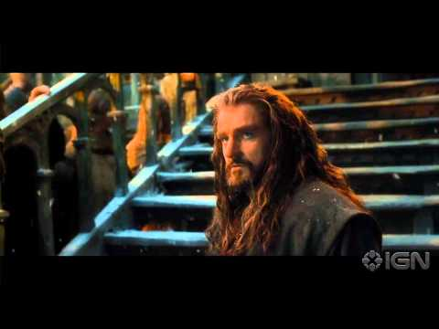 right - Bard the Bowman confronts Thorin Oakenshield.