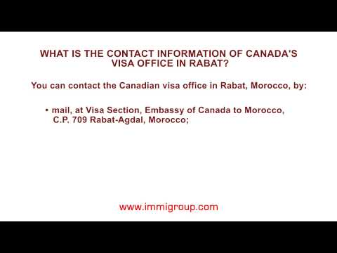 What is the contact information of Canada's visa office in Rabat?