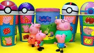 Vamos descobrir os brinquedos e surpresas nos Copos Surpresas da turma da familia Pig da Peppa Pig com Pokebolas surpresas com Pokemon brinquedos e muito mais! E vamos aprender as cores em ingles tambem!Bem vindo ao nosso canal Happy Toys Brinquedos e Surpresas em português do Brasil. Aqui você vai ver abertura de brinquedos, resenha e brincadeiras. Vídeos infantis para crianças de todas as idades.Para não perder nenhum vídeo, inscreva-se: http://www.happytoystv.net Peppa é uma porquinha linda e amorosa tem 5 anos de idade e adora se divertir com seus pais, Papai Pig e Mamãe Pig , e seu irmãozinho George.Ela adora brincar de se fantasiar e passa o dia saltando entre poças de lama ao redor de sua casa. Suas aventuras sempre terminam com muitas gargalhadas!George Pig - irmão de 3 anos de Peppa, que adora brincar com sua irmã mais velha. Seu brinquedo favorito é um dinossauro, que ele leva para toda parte. Costuma chorar quando se assusta ou quando perde o seu amigo dinossauro.COMPILACAO 9 OVOS DE PASCOA SURPRESA 2016 35min As estrelas são: Peppa Pig, Transformers, Princesas Disney, Bob Esponja Calça Quadrada,Rainha Elsa e seu Castelo de Gelo Frozen, Minions, Vingador Homem-Aranha, My Little Pony e Relâmpago McQueen, do filme Disney Carroshttps://www.youtube.com/watch?v=TDuk8DQ-sNk&list=PLFXYQt91YLM9c_9EeooZy6DMVRsuC394U 2a COMPILACAO 9 OVOS DE PASCOA SURPRESA 2016 46min Barbie Hot Wheels Batman Baby Alive Super Wings https://www.youtube.com/watch?v=sXtiv_5HGIQ&list=PLFXYQt91YLM9kjSVgEOf6ulNOzxg5WYJz Patati Patata e Galinha Pintadinha abrem Ovo Surpresa de Pascoa do Bob Esponja Princesas Disney https://www.youtube.com/watch?v=p6BuDIgB9Jk&list=PLFXYQt91YLM8e4vbeDSsXovtj2Y3HYrjx   Galinha Pintadinha ônibus brinquedo - Busão das Naftalinas https://www.youtube.com/watch?v=8oc0JVv0ycQ&index=2&list=PLFXYQt91YLM9IuWcL9HpwV14bviB1veo3    Baby Alive Frozen Porquinha Peppa Pig Elsa Anna Olaf Ovo Surpresa George Boneca Brinquedos Video https://www.youtube.com/watch?v=TzTXhBydtPo&