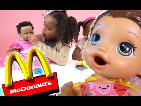 Play doh - Pretend Play Food! Baby Doll McDonalds Play-doh