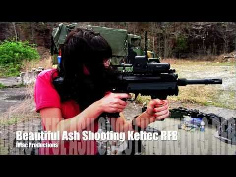 Beautiful Ash shooting the Keltec RFB