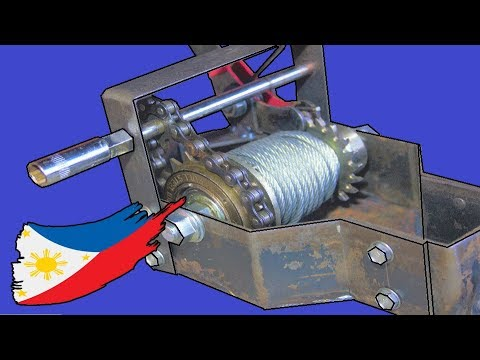 Hand/Drill Crank Winch With Bicycle Parts