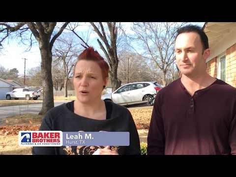 Baker Brothers Plumbing Review – Leah M. – Hurst, TX