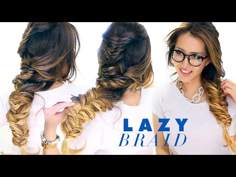 LAZY Girl's French Fishtail BRAID Hairstyle ★ Cute SCHOOL Hairstyles