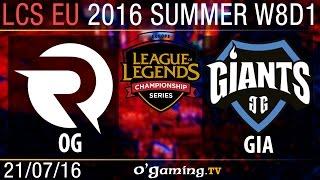 Giants vs Origen - LCS EU Summer Split 2016 - W8D1