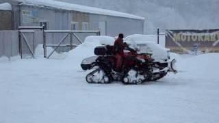 Vyhrnování sněhu - zima 2010