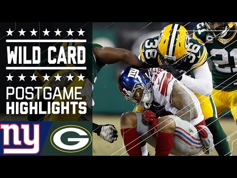 Giants vs. Packers | NFL Wild Card Game Highlights (видео)