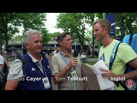 Tom Tebbutt happens across British ATP Player Dominic Inglot and renowned coach Louis Cayer to bring you this bilingual interview.
