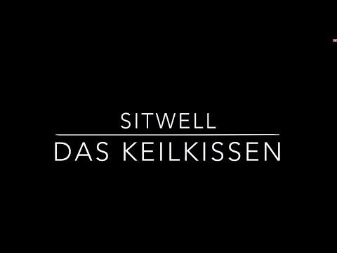 SITBACK Sitwell Keilkissen - Sitzkissen fürs Auto, Büro und Zuhause mit Befestigungssystem