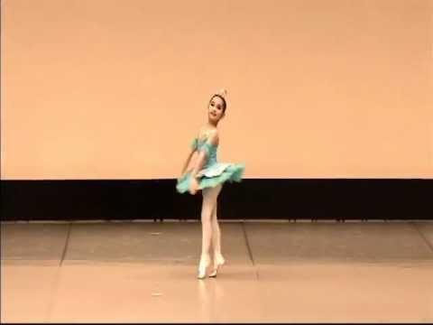 フロリナ王女のバリエーションで初めてのプレバレエコンクール