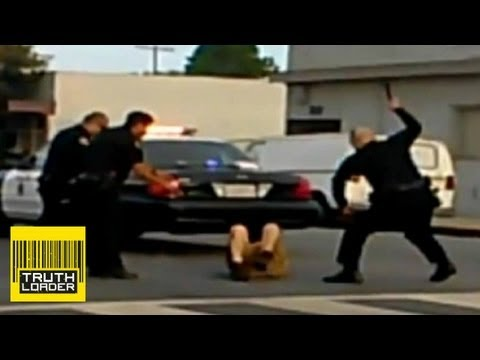 beat - Police in Long Beach, California, have been filmed hitting 46-year-old Porfirio Santos-Lopez with batons and tasering him repeatedly while he lies in the mid...