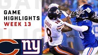 Bears vs. Giants Week 13 Highlights | NFL 2018
