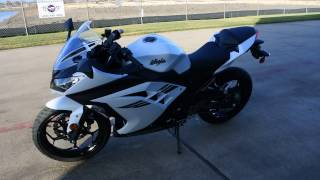 6. SALE $3,799:  2017 Kawasaki Ninja 300 Pearl Blizzard White Overview and review