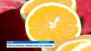 Aumenta procura por frutas cítricas na pandemia