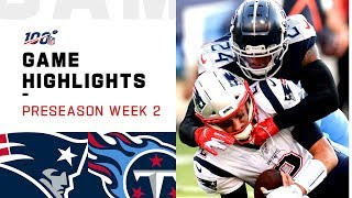 Patriots vs. Titans Preseason Week 2 Highlights | NFL 2019