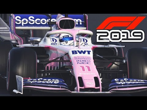 F1 2019 EXCLUSIVE Gameplay - Race In BRITAIN With Sergio Perez (F1 2019 Racing Point)