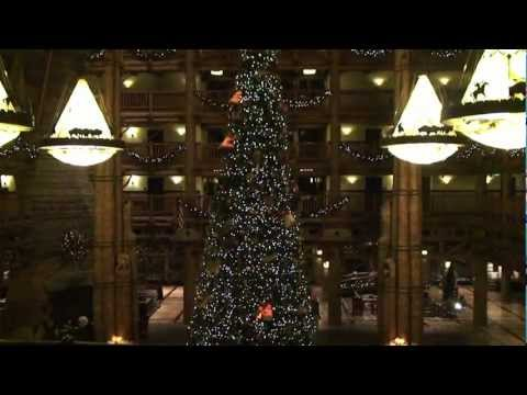 Disney World Hotels-Disney's Wilderness Lodge Christmas Tree and Holiday Decor 2011 Walt Disney World