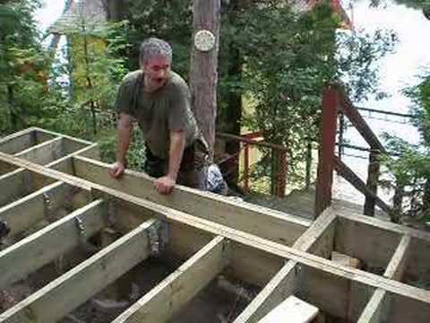 deck - How to build a large deck part 1.
