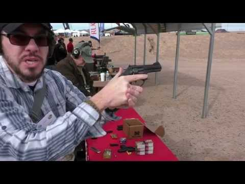 ruger - At the Ruger booth, trying out a bunch of new pistols, including: GP100 Match Champion, 3