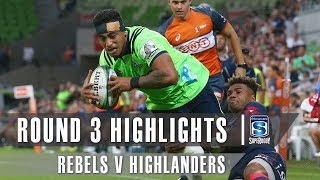 Rebels v Highlanders Rd.3 2019 Super rugby video highlights | Super Rugby Video Highlights