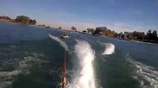 9. Raj tubing behind a Sea Doo GTX Wake Edition at Modesto Reservoir