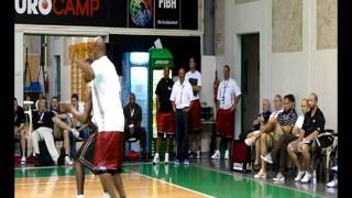Bismack Biyombo adidas EuroCamp private workout in Treviso