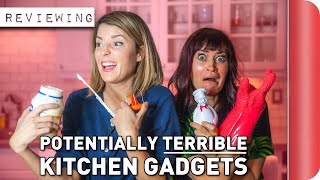 Reviewing Potentially TERRIBLE Kitchen Gadgets Ft. Grace Helbig & Mamrie Hart by SORTEDfood