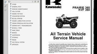 10. Kawasaki Prairie 360, KVF 360 - Workshop, Service, Repair Manual - Wiring