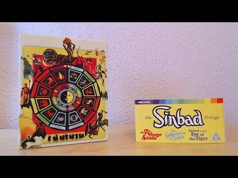 The Sinbad Trilogy Blu Ray Boxset Unboxing