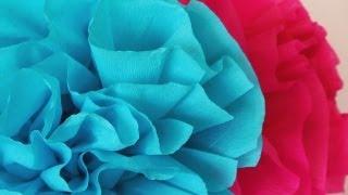 Cómo hacer flores de papel crepe fáciles  -Manualidades para todos