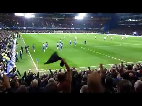 Celebrating Victor Moses Goal (2-1)