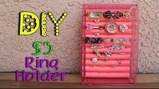 DIY $3 Ring Holder - YouTube