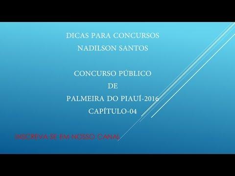 DICAS PARA CONCURSOS- CONCURSO PÚBLICO DA PREFEITURA DE PALMEIRA DO PIAUÍ-2016
