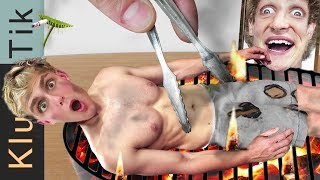 JAKE PAUL ROAST!!! Kluna Tik Dinner #82 | ASMR eating sounds no talk