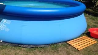 Уход за надувным бассейном на даче своими руками 61
