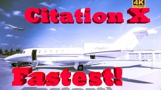 8. Citation X - Fastest Private Jet to the Grand Canyon