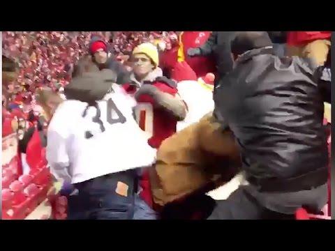 Massive Drunken FIGHT Breaks Out During Raiders vs Chiefs (видео)