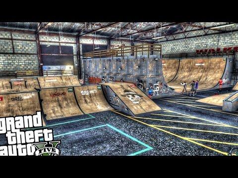 Indoor Skatepark - GTA 5 PC MOD
