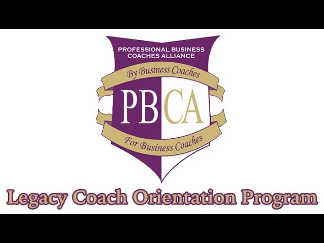 Legacy Coach Orientation Program
