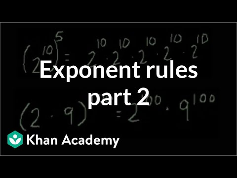 Exponent Rules Part Composite Problems Video Khan Academy