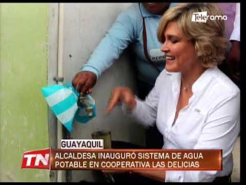 Alcaldesa inauguró sistema de agua potable en Cooperativa Las Delicias