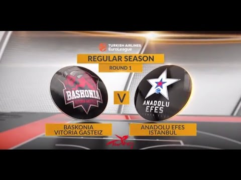 EuroLeague Highlights RS Round 1: Baskonia Vitoria Gasteiz 85-84 Anadolu Efes Istanbul