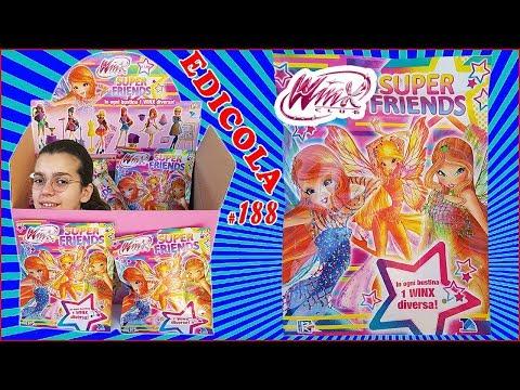 WINX SUPER FRIENDS Apriamo un pacco intero di bustine (Edicola by Giulia Guerra) (видео)
