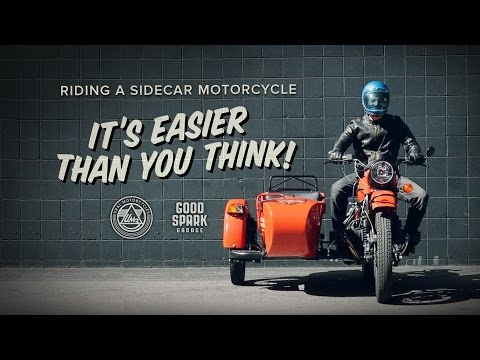 How to ride a sidecar motorbike
