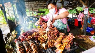 Video Thai Street Food - EXTREME BBQ MEAT TOUR in Chiang Mai, Northern Thailand | Thai Sausage and Laap! MP3, 3GP, MP4, WEBM, AVI, FLV Februari 2019