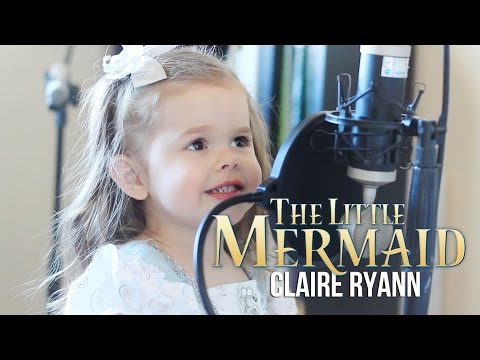 Adorable Little 3 Year Old Girl Crushes Little Mermaid Song