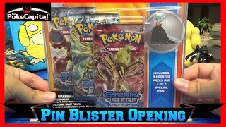Pokemon Cards XY Steam Siege Shiny Mega Gardevoir Pin Blister Opening by ThePokeCapital