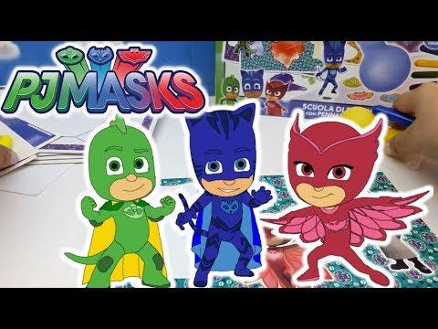 PJ MASKS COLOUR SPRAY SCUOLA DI DISEGNO - giochi creativi - crea le tue immagini dei Super Pigiamini