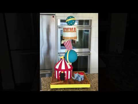 Circus Themed Gravity Defying Cake